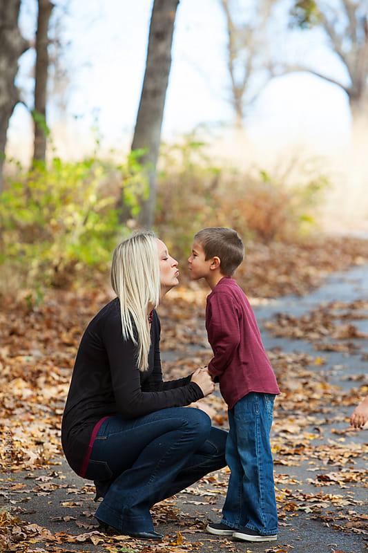 stock photo: autumn kiss
