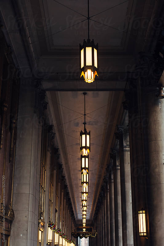 Portico with ceiling lights by Gabriel (Gabi) Bucataru for Stocksy United