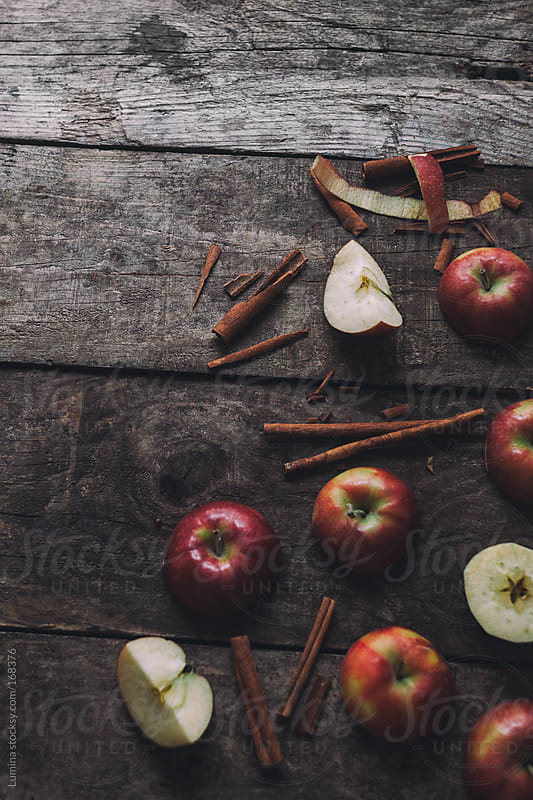 Apples and Cinnamon Sticks by Lumina for Stocksy United