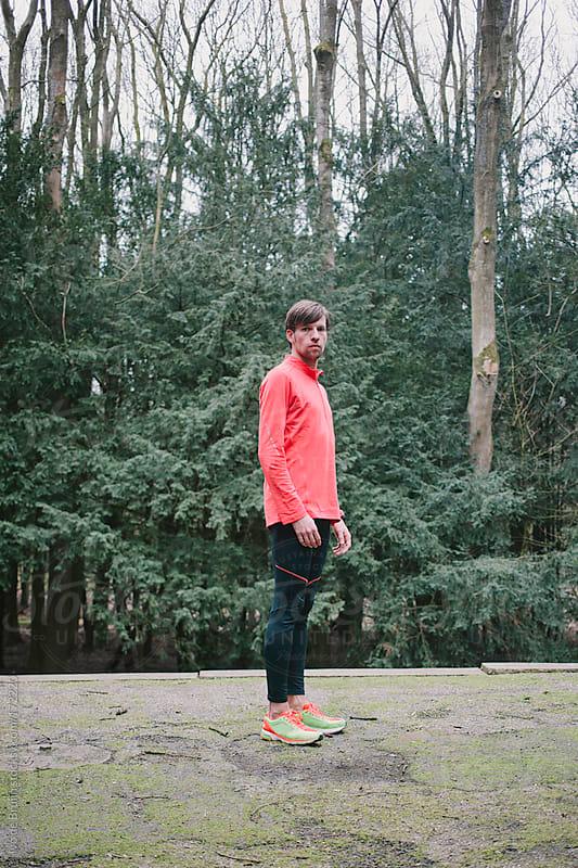Portrait of a fit runner by Ivo de Bruijn for Stocksy United