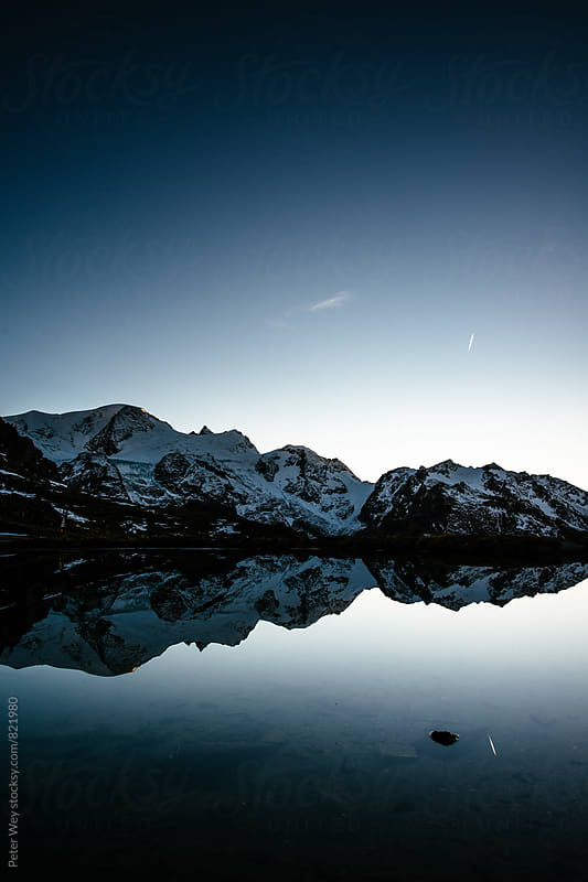 Sunset at Sustenpass by Peter Wey for Stocksy United