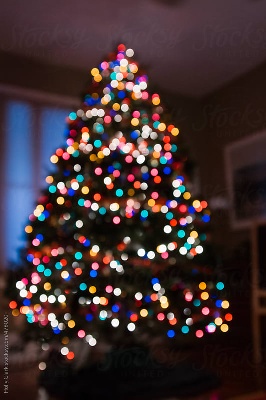Blurred lights on a Christmas tree, abstract by Holly Clark for Stocksy United