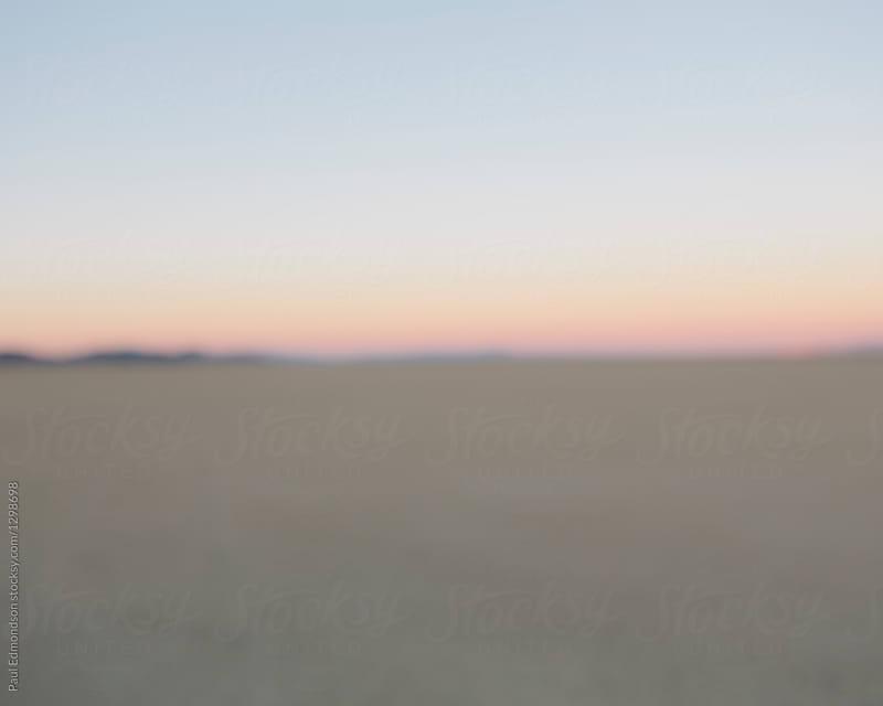 Abstract of Black Rock Desert at dawn