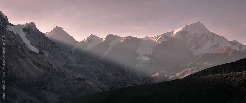 Sunrise in Himalaya mountains by Alexander Grabchilev for Stocksy United