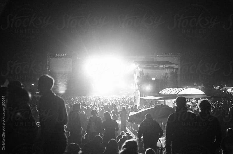 Stage lights at night on a festival by Christian Zielecki for Stocksy United