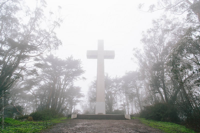 Foggy Cross by Wes Taylor for Stocksy United