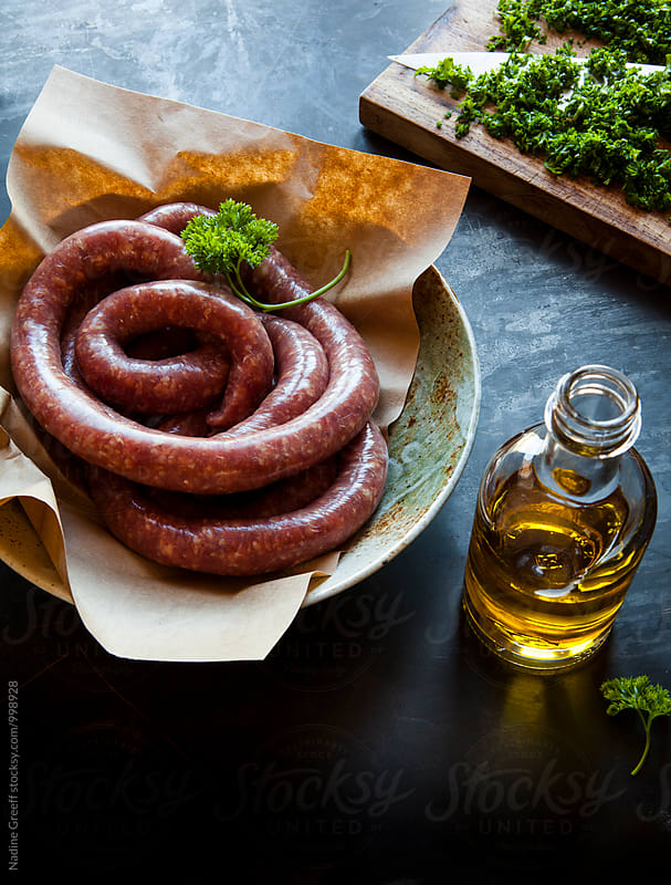 Lamb sausage by Nadine Greeff for Stocksy United