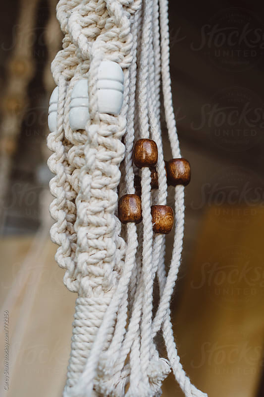 Details of macrame by Carey Shaw for Stocksy United