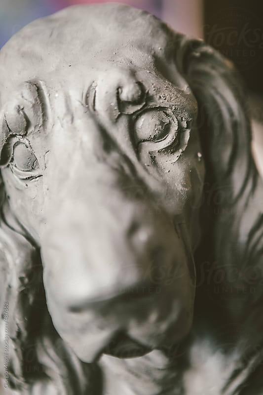 Terracotta Statue of Basset Dog in a Ceramics Studio by Giorgio Magini for Stocksy United