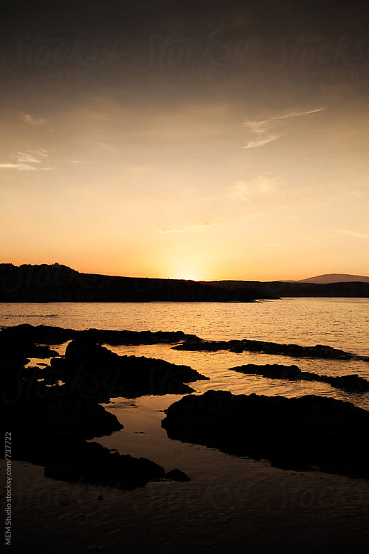 summer sunset over the bay of Sinemoretz by MEM Studio for Stocksy United