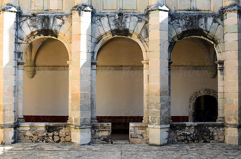 Three arches of Convento de Cuilapam   by Alice Nerr for Stocksy United