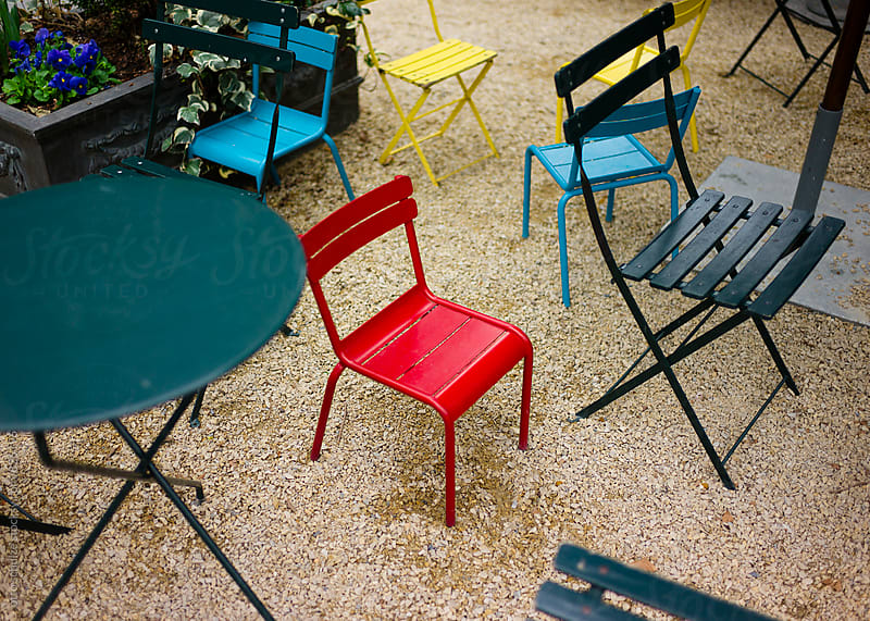 colorful park chairs by otto schulze for Stocksy United