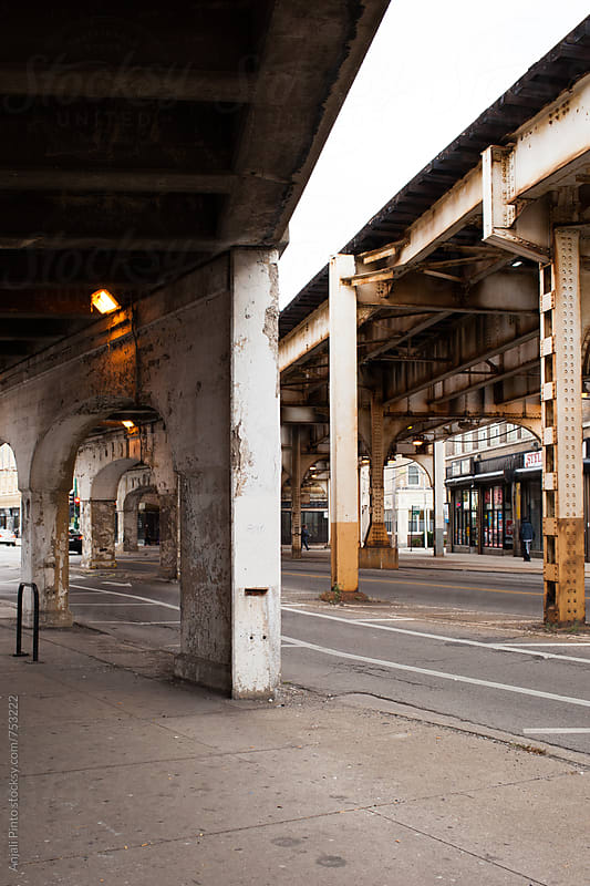 Under Chicago El Train Tracks by Anjali Pinto for Stocksy United