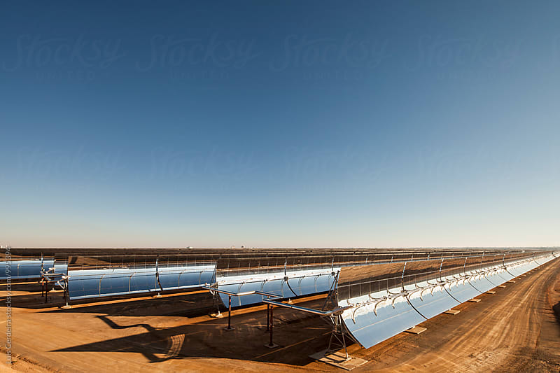 Thermal solar power plant by Luis Cerdeira for Stocksy United