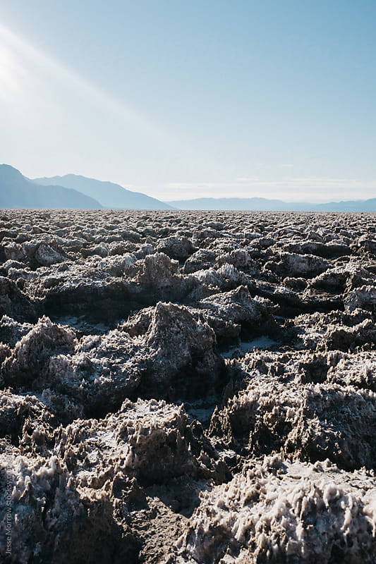 landcape photo of devils golf course in death valley usa by Jesse Morrow for Stocksy United