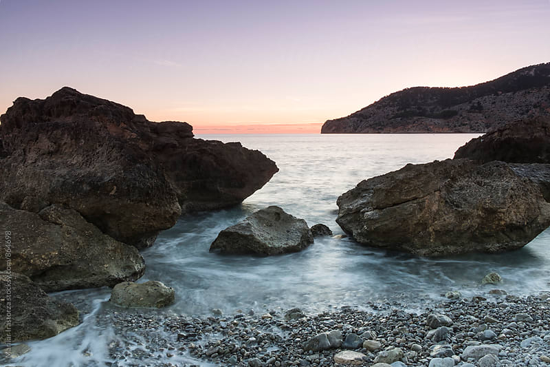 Rocky beach in Mallorca coast by Marilar Irastorza for Stocksy United