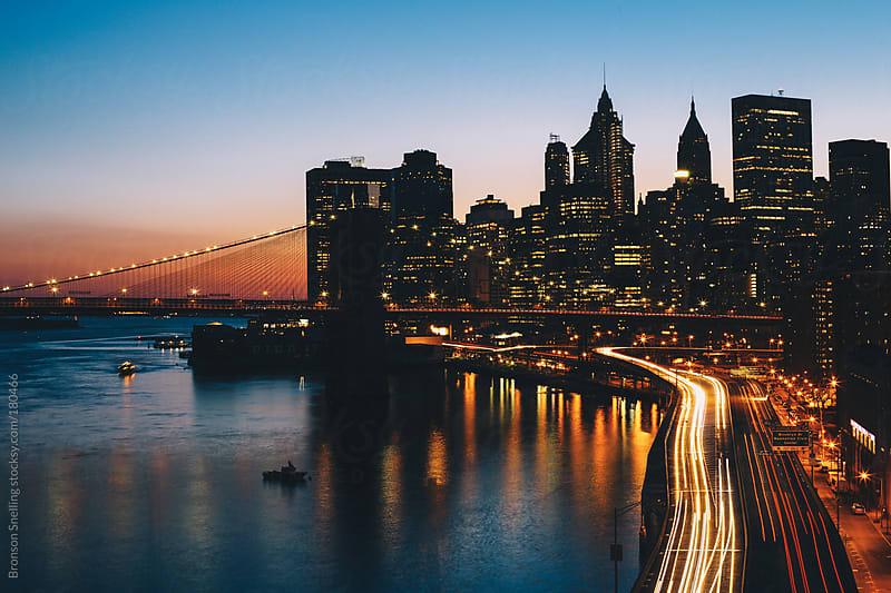 Manhattan Sunset by Bronson Snelling for Stocksy United