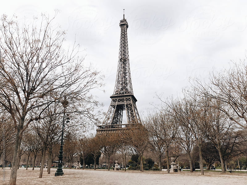 The Eiffel Tower in early spring by Anna Malgina for Stocksy United