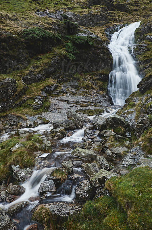 Moss Force waterfall. Cumbria, UK. by Liam Grant for Stocksy United