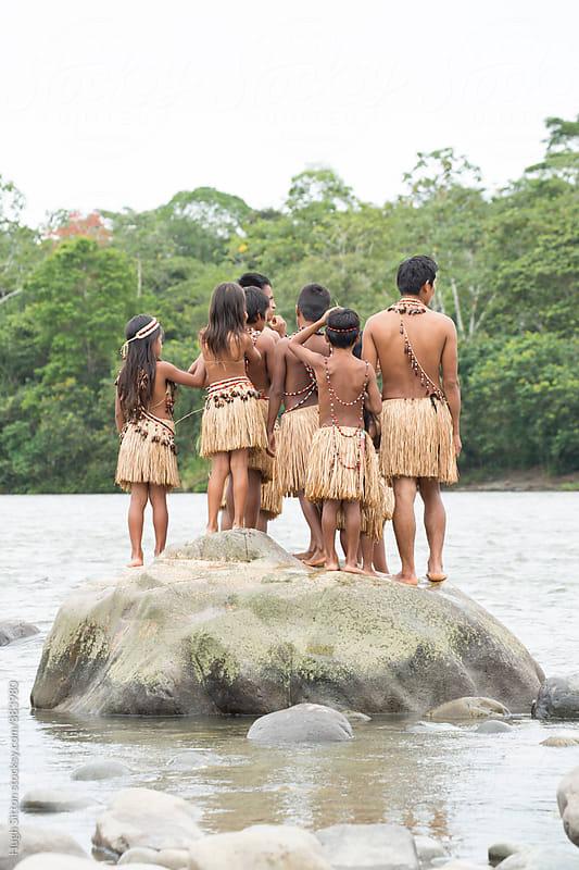 Indigenous school. Ecuador. by Hugh Sitton for Stocksy United