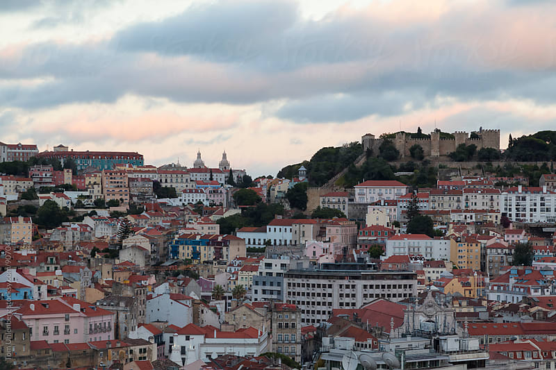 Lisbon, Portugal - The Old Part of the City at Dusk by Tom Uhlenberg for Stocksy United