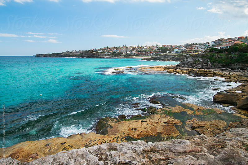 ocean along Bondi to Coogee walk in Sydney by Cameron Zegers for Stocksy United