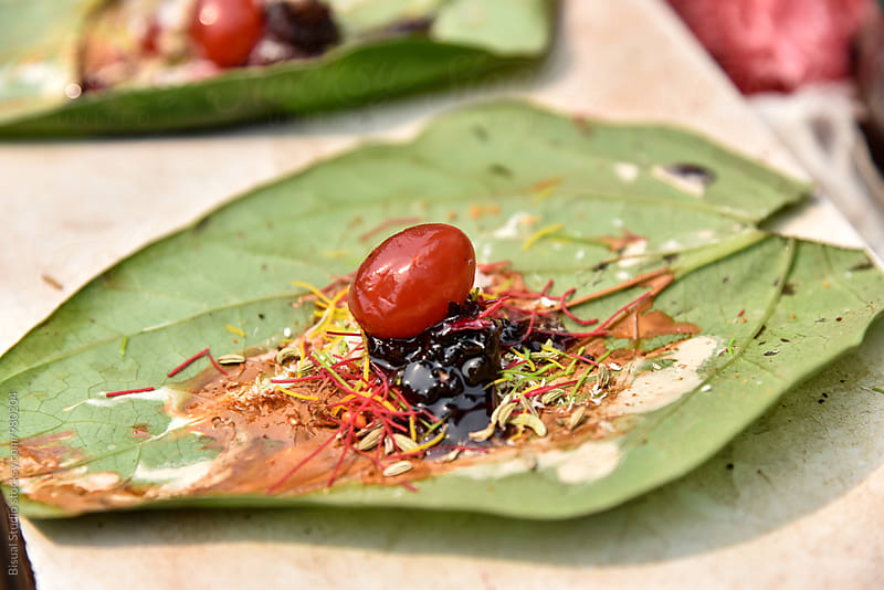 Preparing Paan by Bisual Studio for Stocksy United