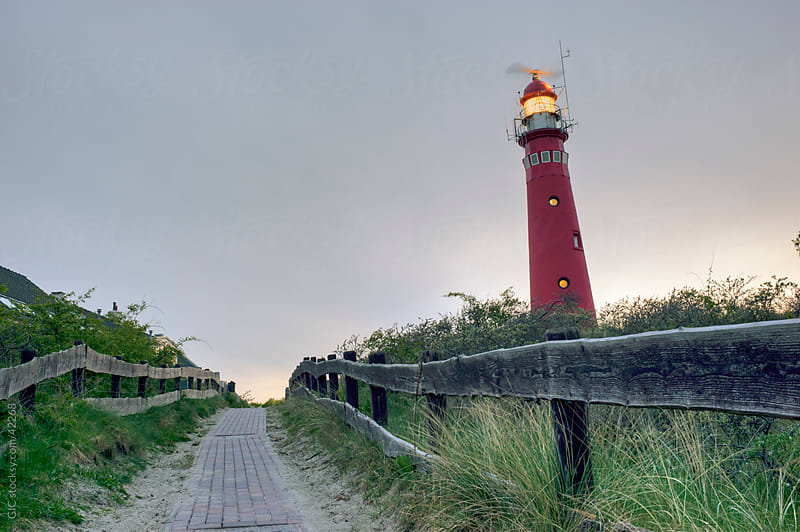 Lighthouse and footpath by GIC for Stocksy United