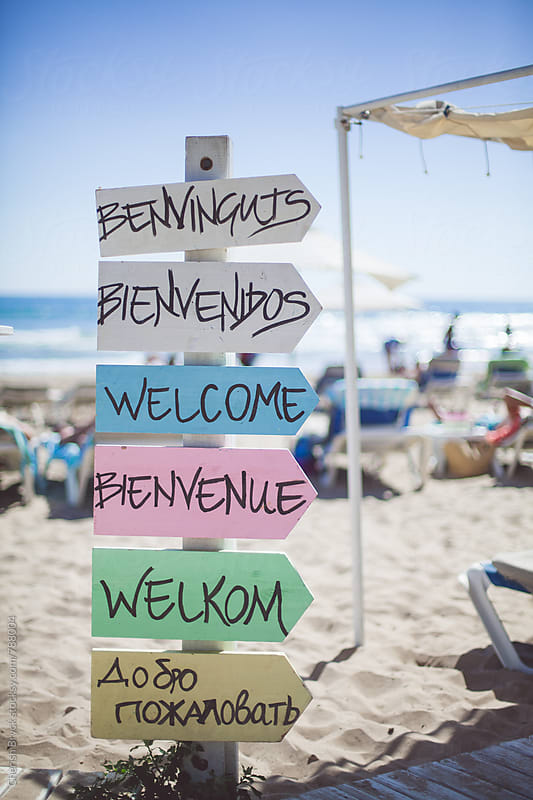Welcome signs of many kinds. by Cherish Bryck for Stocksy United
