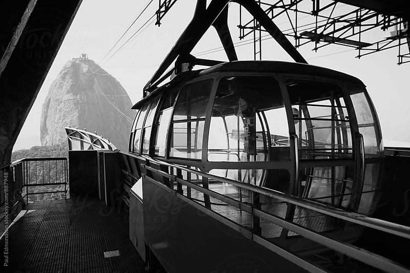 Brazil, Rio de Janeiro, view of Sugarloaf Mountain from cable car  by Paul Edmondson for Stocksy United