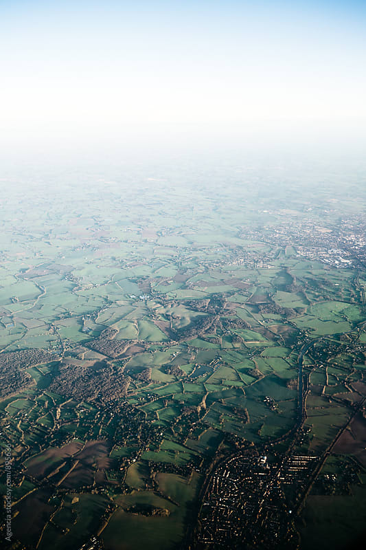 English Countryside Aerial by Agencia for Stocksy United