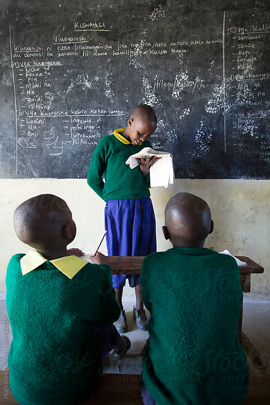 Kenyan school children. Kenya, Africa. by Hugh Sitton for Stocksy United
