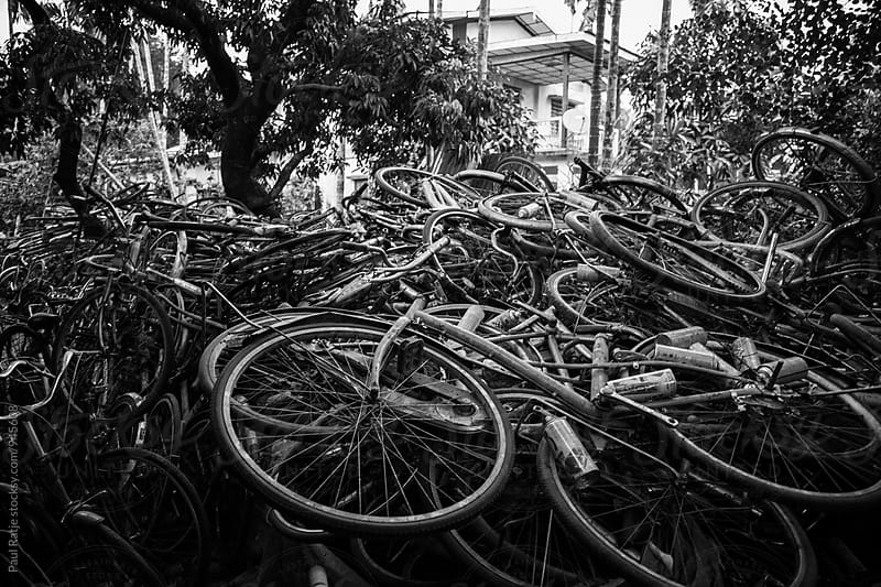 Bicycle Junk Yard by Paul Ratje for Stocksy United
