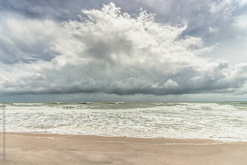 Tropical Storm Elliot Skirts the Eastern Coast of Florida by suzanne clements for Stocksy United
