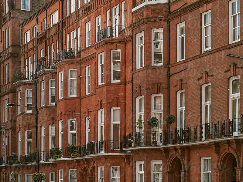 Typical Row of Residences in London by Joselito Briones for Stocksy United
