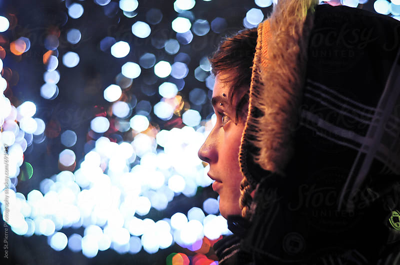 Christmas Bokeh by Joe St.Pierre Photography for Stocksy United