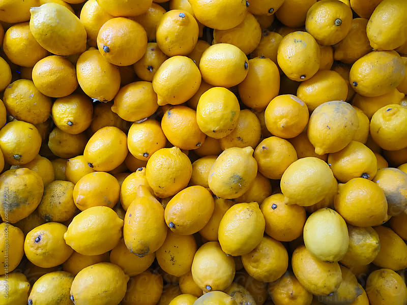 Lemons at the fruitmarket by Good Vibrations Images for Stocksy United