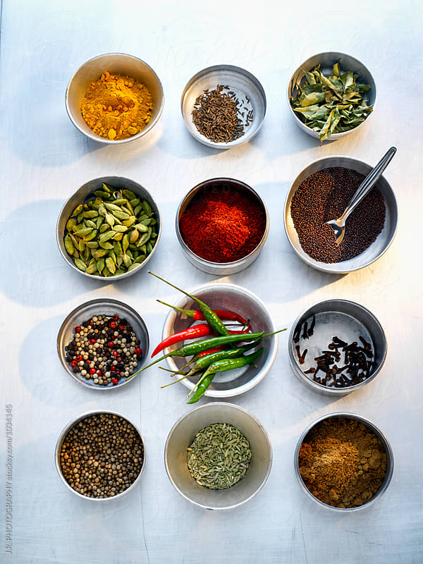 Spices by J.R. PHOTOGRAPHY for Stocksy United