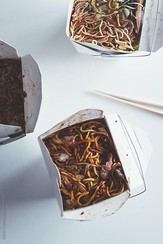 takeaway asian food by Gillian Vann for Stocksy United