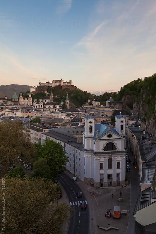 Salzburg, Austria - Cityscape at Dusk by Tom Uhlenberg for Stocksy United