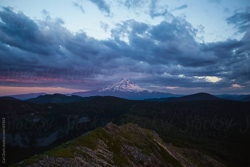 Mt Hood at Sunset by Carl Zoch for Stocksy United