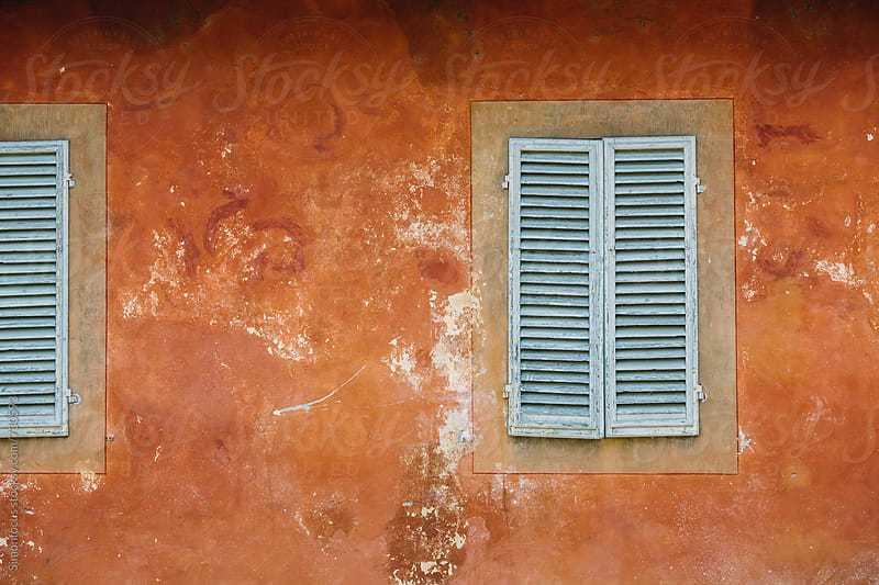 Shutters on building in Lucca by Simonfocus for Stocksy United