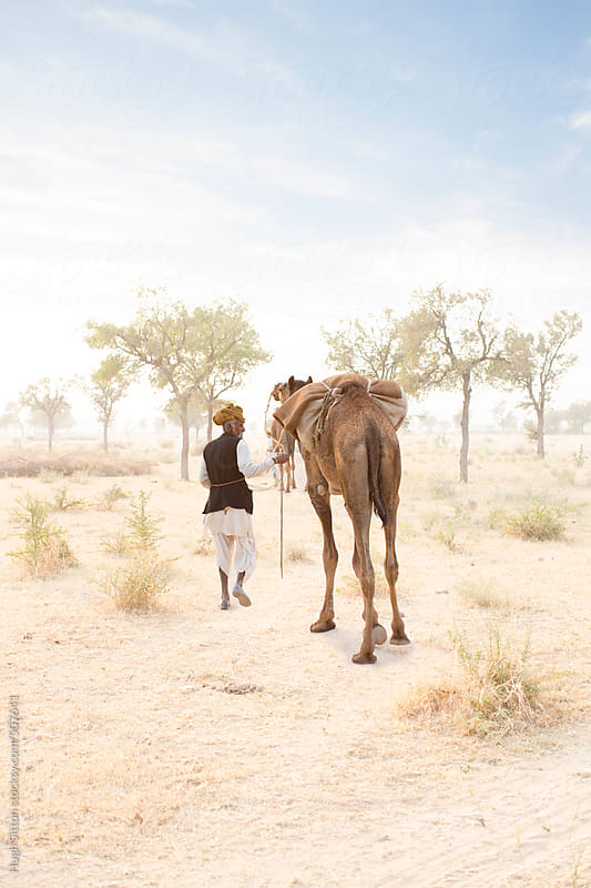 People of the Rajasthani Desert. India by Hugh Sitton for Stocksy United