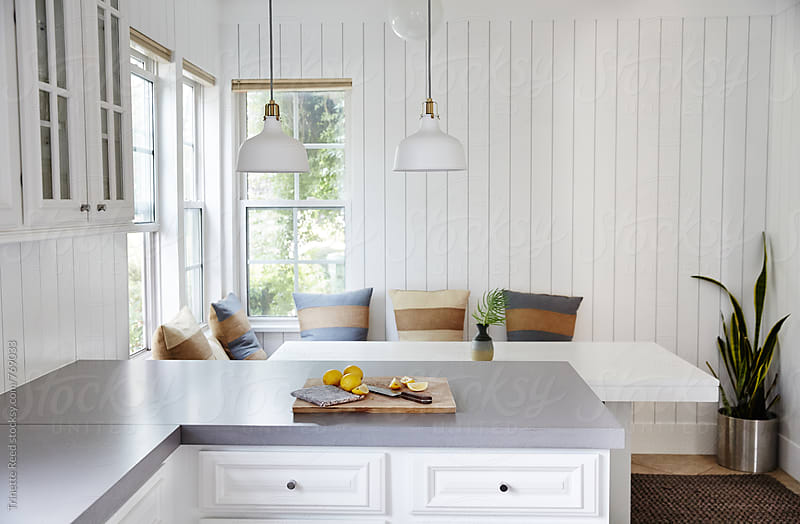 Farmhouse Kitchen and Breakfast Nook by Trinette Reed for Stocksy United