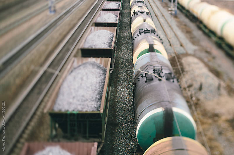 Freight Trains and Railways by Alexey Kuzma for Stocksy United