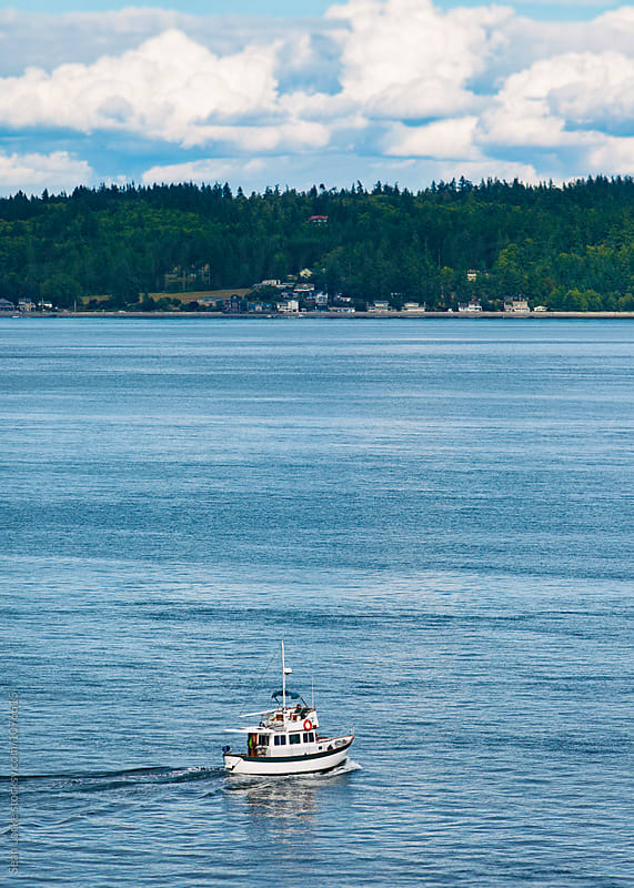 Fishing Boat In Alaskan Waters by Sean Locke for Stocksy United