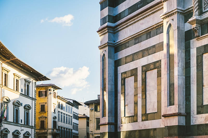 Florence Cityscape with Duomo Marbles and City Buildings by Giorgio Magini for Stocksy United