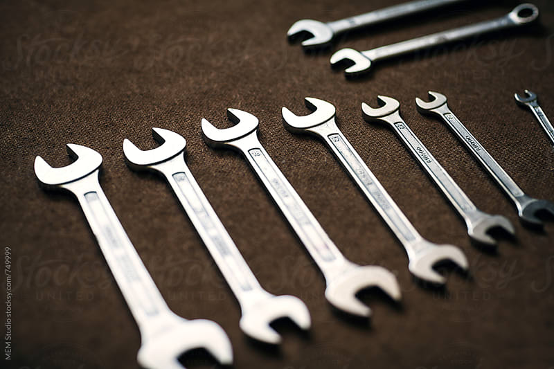 a set of wrenches by MEM Studio for Stocksy United