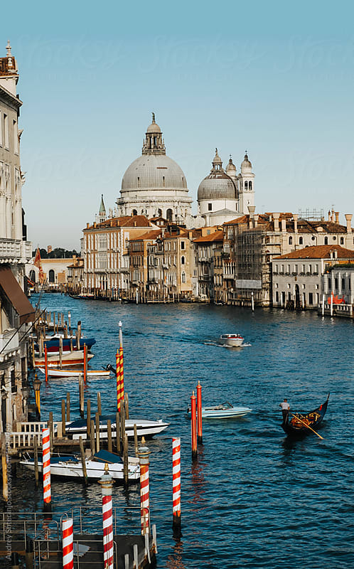 View of the Santa Maria Della Salute and Grand Canal.Venice/Italy by Marko Milanovic for Stocksy United