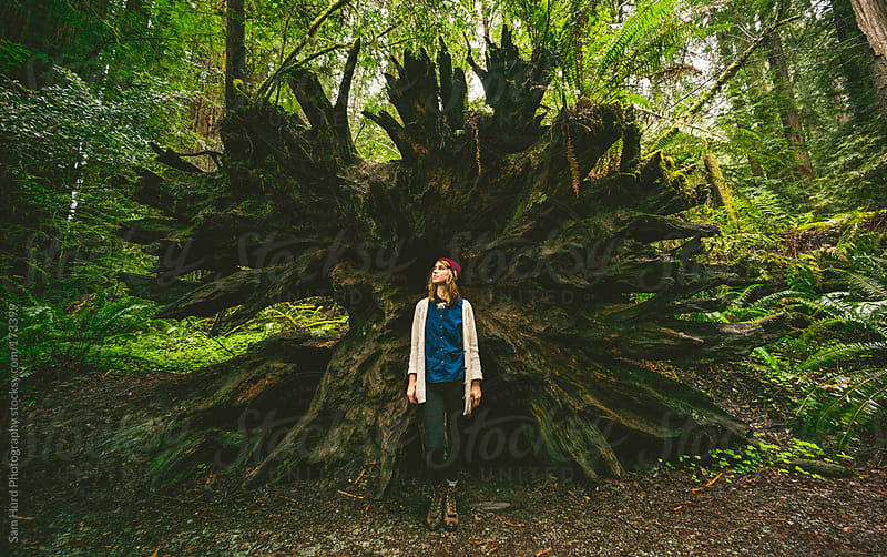 woman standing in front of tree by Sam Hurd Photography for Stocksy United
